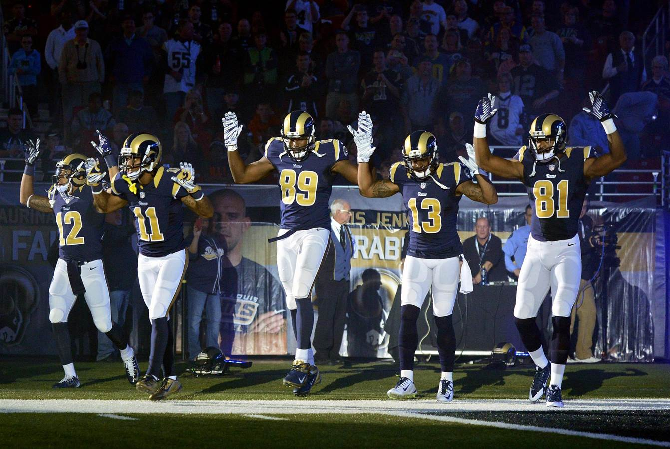 St. Louis Rams Hands Up Would have had greater impact if the NFL in constant legal trouble
