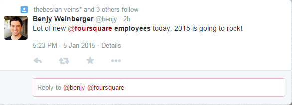 A lot of new employees at foursquare 1 5 2015