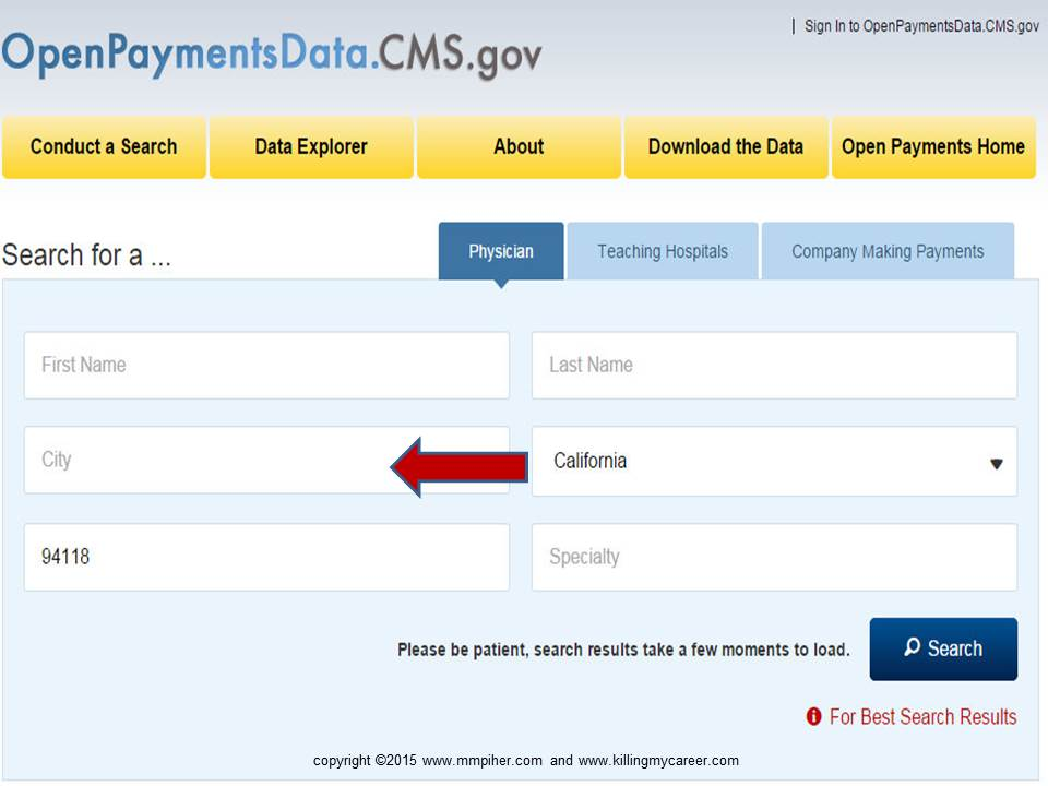 CMS needs to add addrress to Open Payments Site