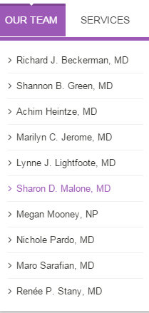 Dr. Sharon Malone OBGYN Foxhall Our Team