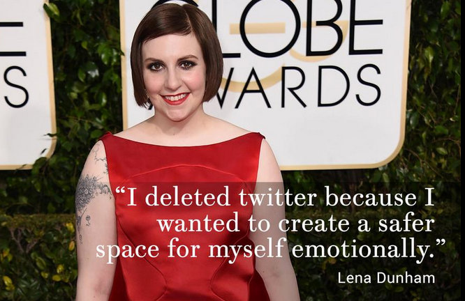 Lena Dunham Twitter Flounce The Sociopathic Business Model