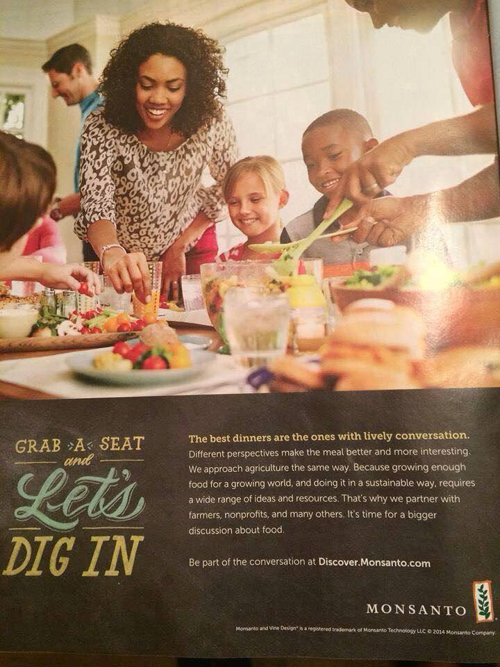 Monsanto Ad expected to run in O Magazine in 2015 according to IRT