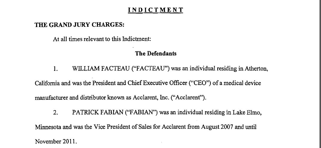 Facteau Fabian Indictment 1 2 Killing My Career