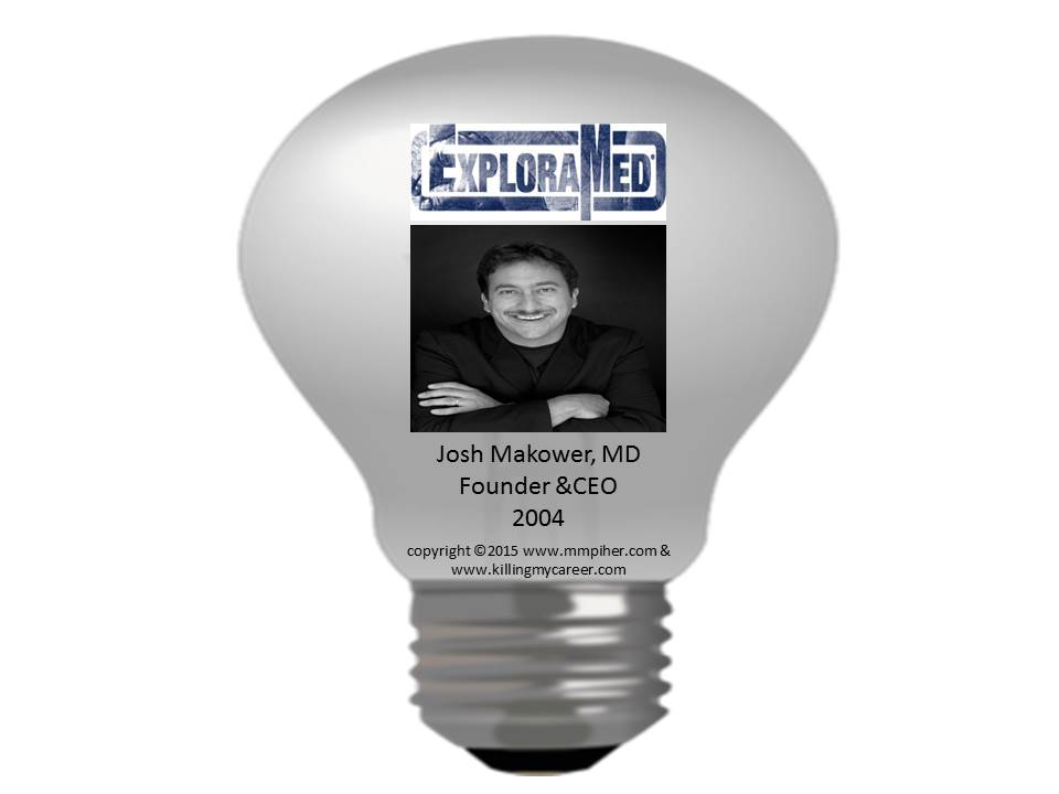 Josh Makower MD Founder & CEO of ExploraMed 2004 & Co-Founder of Acclarent 2004