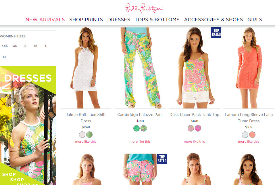 Lilly Pulitzer website lacks diversity