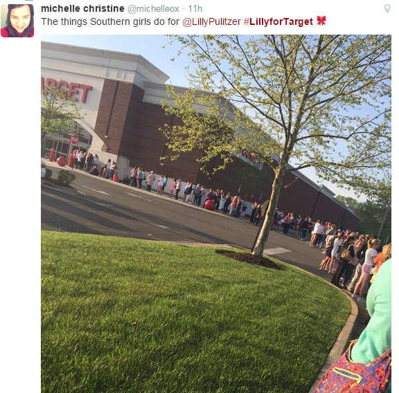 Women in the South lined up for Target's #LillyForTarget event