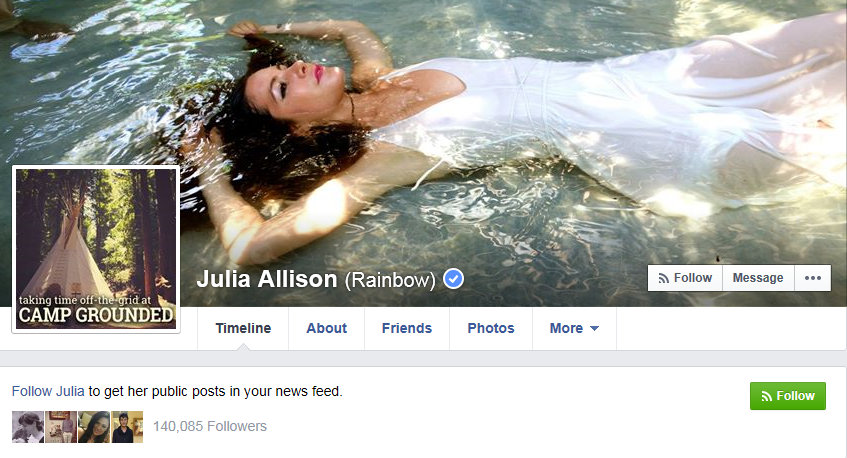 Julia Allison has over 140,000 Facebook followers 5 26 2015