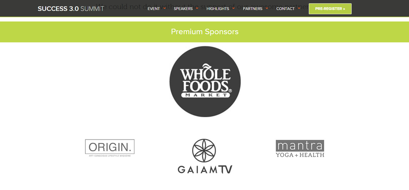 Success 3.0 Summit Whole Foods Child Rapist Marc Gafni The Honest Company