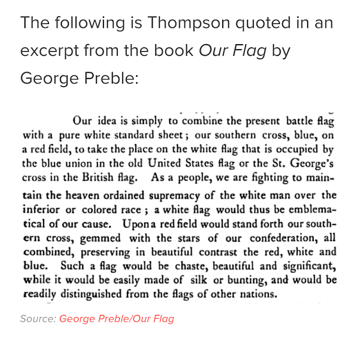 Confederate flag meaning from the man who designed it
