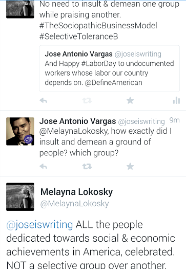 Jose Antonio Vargas of Define American is a chronic Selective Tolerance B abuser under The Sociopathic Business Model™
