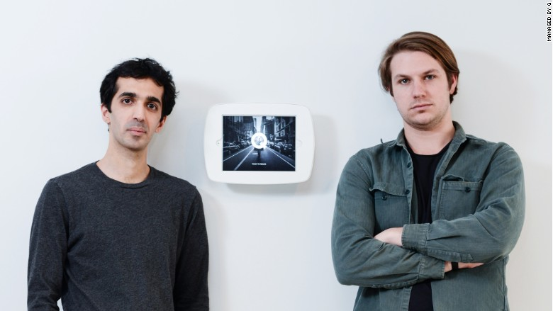 Managed by Q co-founders Saman Rahmanian (left) and Dan Teran