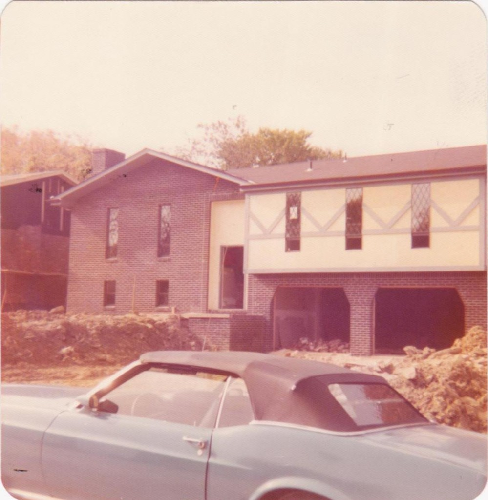 M & D New House Edward Drive October 1975 Blue Mustang Convertib 001 cropped