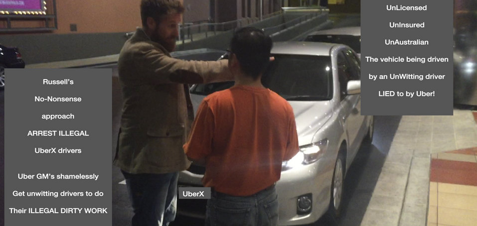 Russell Howarth Arresting Uber