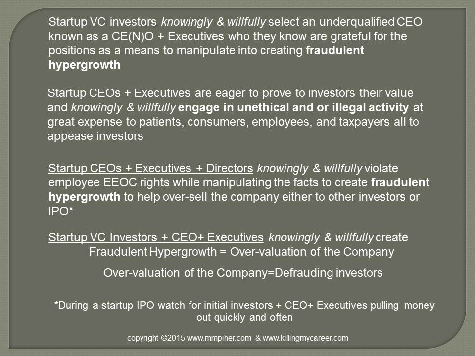 VC's, valuation vs worth, The Sociopathic Business Model™ Cycle of Fraud