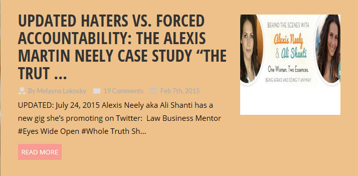 Alexis Martin Neely Ali Shanti Name Change to Possiby Work Around Right To be Forgotten