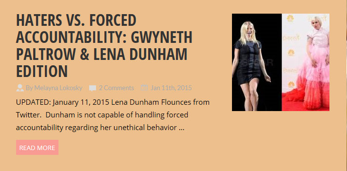 Professional Victims Lena Dunham & Gwyneth Paltrow