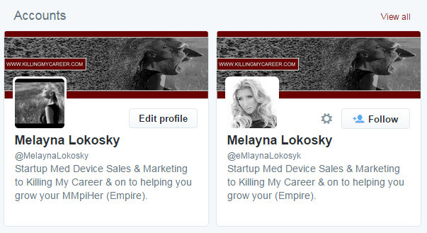 Twitter has an indentity theft problem Melayna Lokosky Killing My Career
