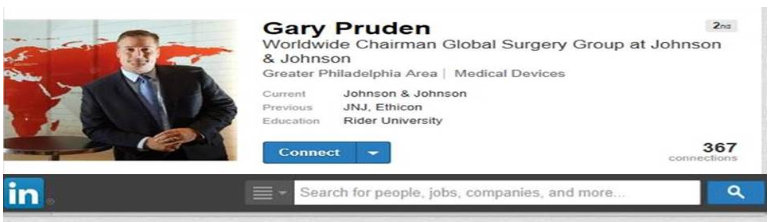 Gary Pruden LinkedIn Profile missing information