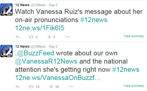 Ruiz message about her on air pronunciation 3