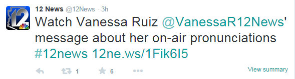 Ruiz message about her on air pronunciation 7