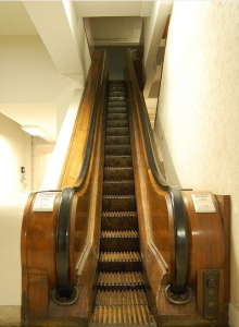 Old escalator in Kaufmanns downtown Pittsburgh