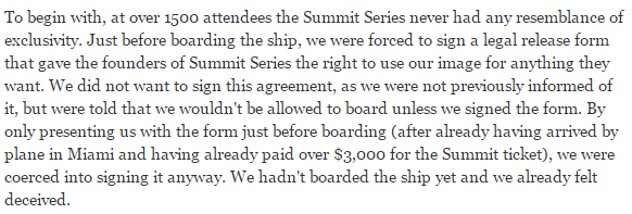 Summit at Sea Manipulation of facts while not recognizing the rights of others 2011