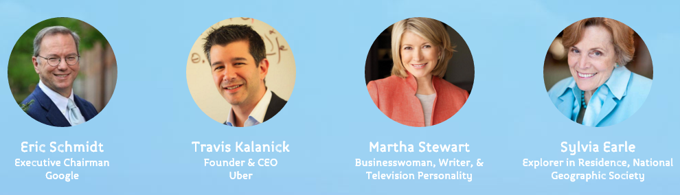 Summit at Sea has the ethically challenged Uber CEO Travis Kalanick & convicted felon Martha Stewart as speakers.