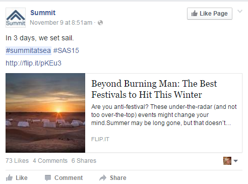 #SummitAtSea a cleaner Burning Man
