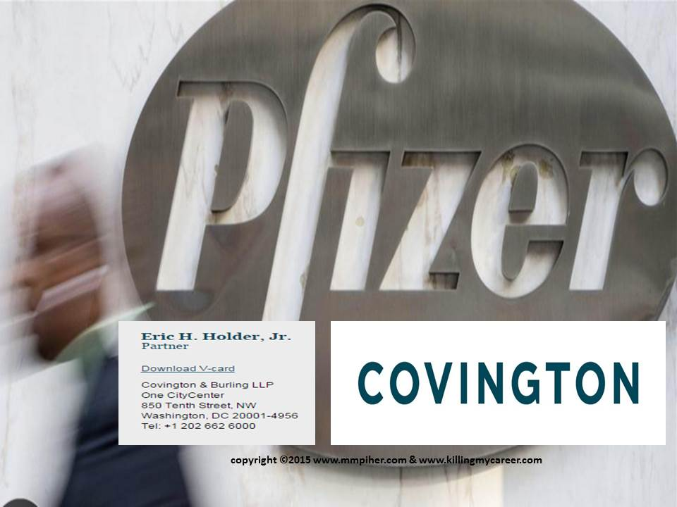 Taxpayer should demand Eric Holder & his firm Covington LLP recuse themselves from the Pfizer & Allergan merger.