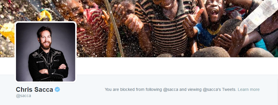 Blocked by Venture Capitalist Chris Sacca 3 25 2016